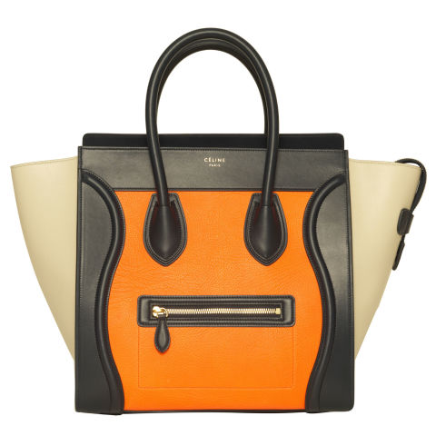 "Céline Mini Luggage Tote in Mulitcolor Elephant Calfskin Bright Orange, $3,450;  at select Saks Fifth Avenue locations (saksfifthavenue.com)                   Why you need it: Céline has been the ""It-bag"" of choice since 2009. New year, new Céline, right?"