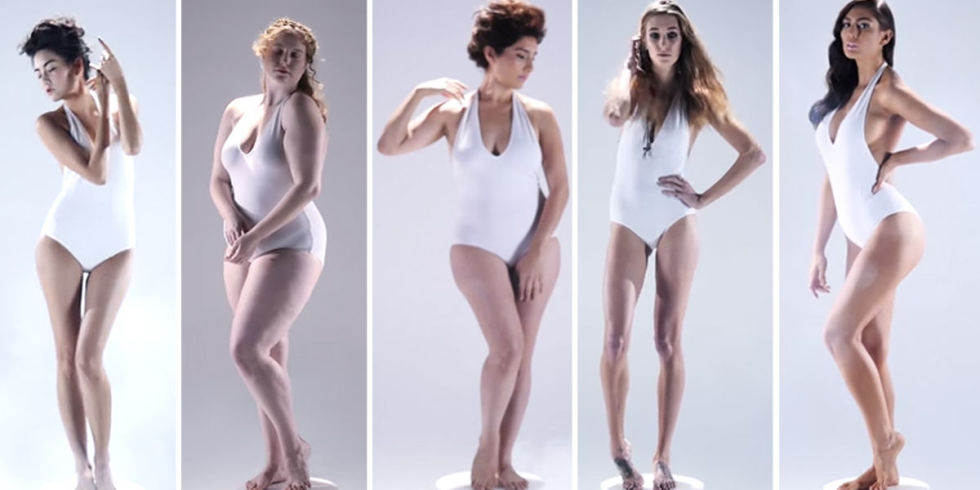 women's ideal body type through history - amazing video shows how, Cephalic Vein