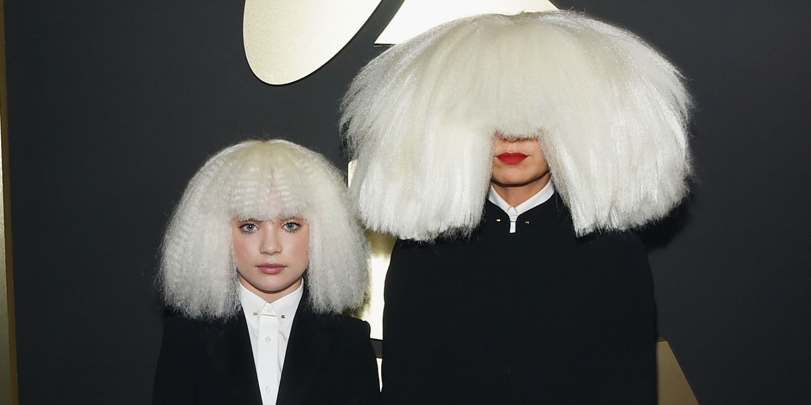 Maddie Ziegler And Sia In Matching Wigs At The Grammys