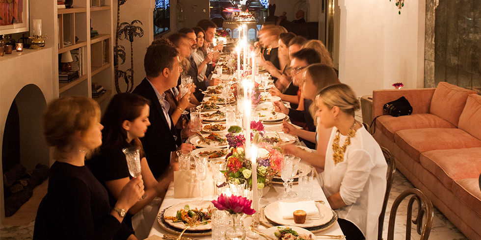 irene neuwirth throws a west hollywood dinner party - irene