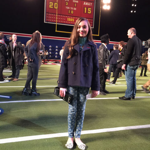 At my very-first-ever fashion show: Tommy Hilfiger. The whole place was set up to like a football stadium complete with a real Jumbotron, bleachers, and an AstroTurf field/runway. The energy was just awesome.<br />