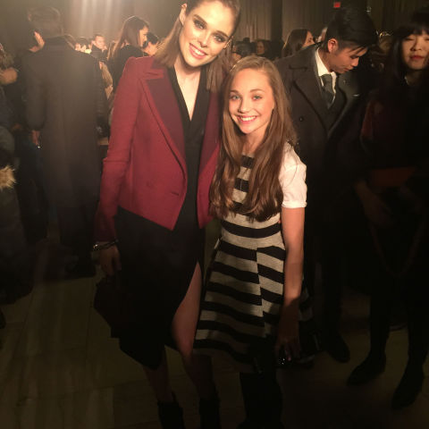 Coco Rocha and I catching up before the Zac Posen show. We have met before and she is one of my favorite models.<br />