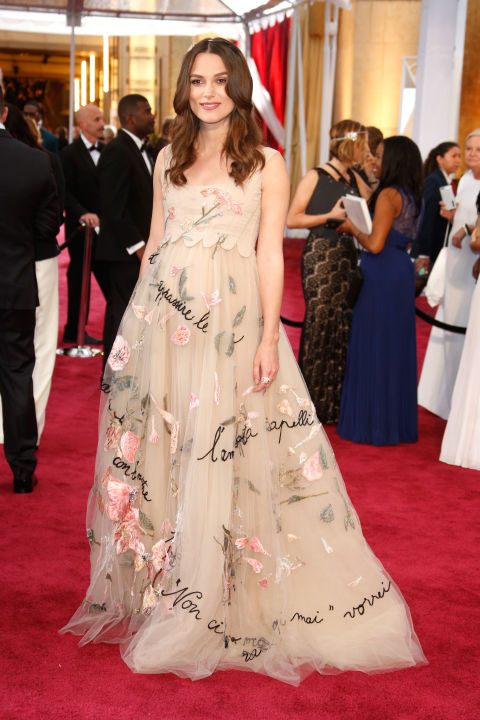In Valentino at the 2015 Academy Awards