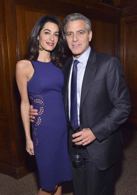 With George Clooney at the 100 LIVES Event.