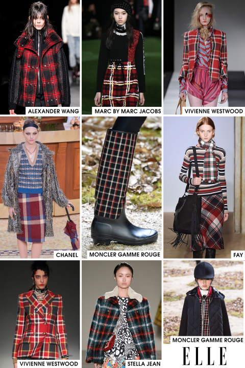 Plaid is having a moment on the runways, particularly red plaid. Designers are partial to a tartan print and it's not hard to see why: The red adds an interesting dose of color to an otherwise very classic fabric. And since we all are guilty of overdoing black in the winter and black was already very dominant on the runway, it is also nice to see some red to brighten up the mood.