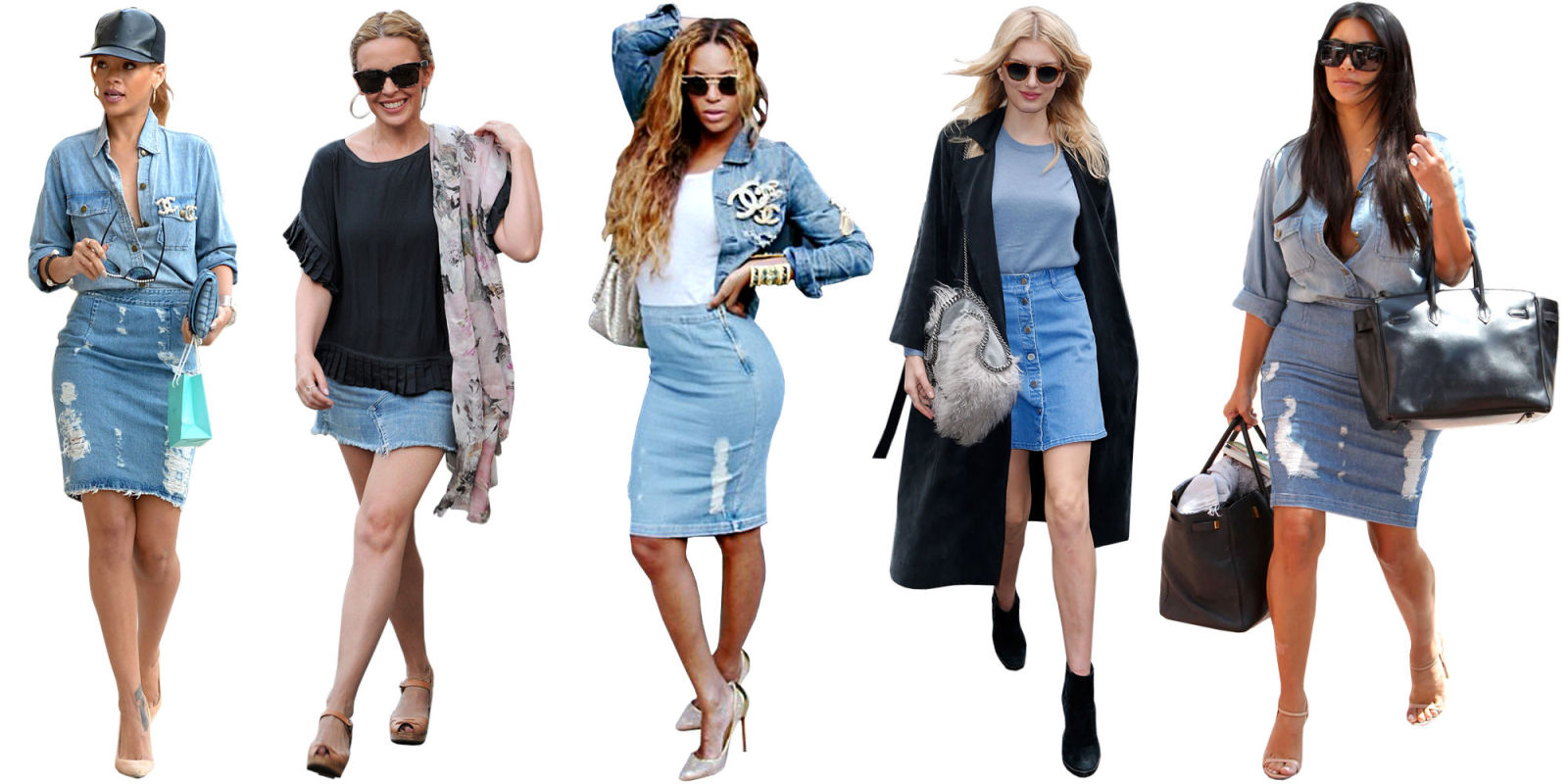 How to Wear a Denim Skirt - 5 Ways to Embrace the Denim Skirt