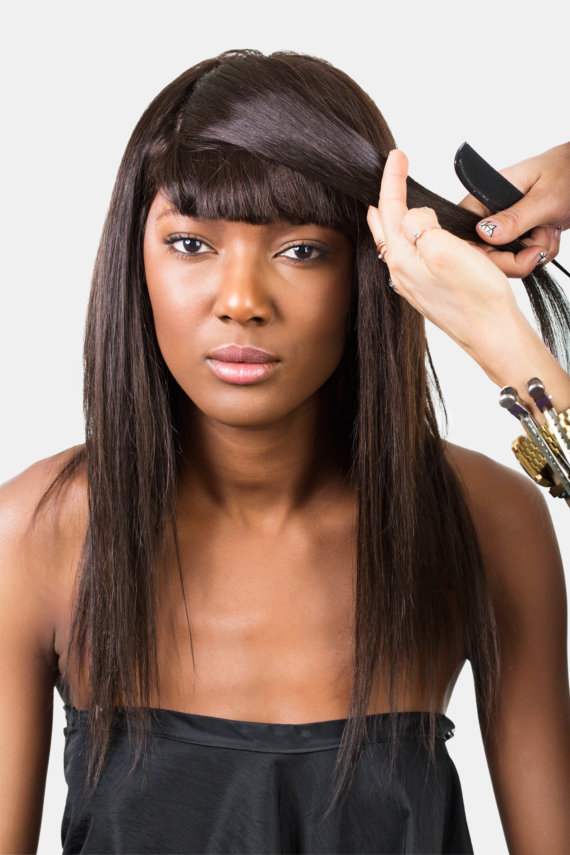 Outstanding How To Style Bangs 5 Hairstyles To Keep Your Bangs Out Of Your Face Short Hairstyles For Black Women Fulllsitofus