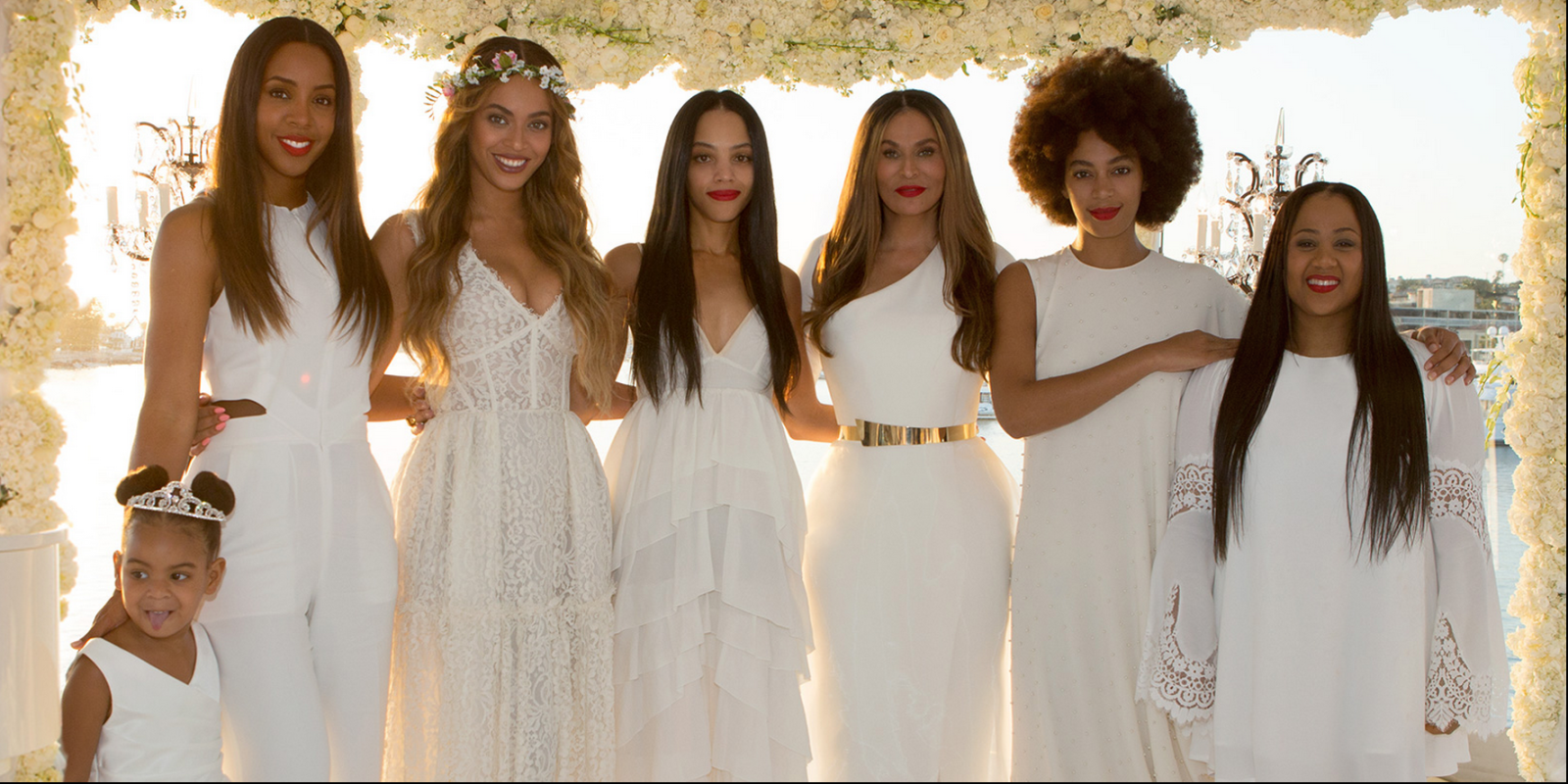 Beyonce And Blue Ivy At Tina Knowles Wedding