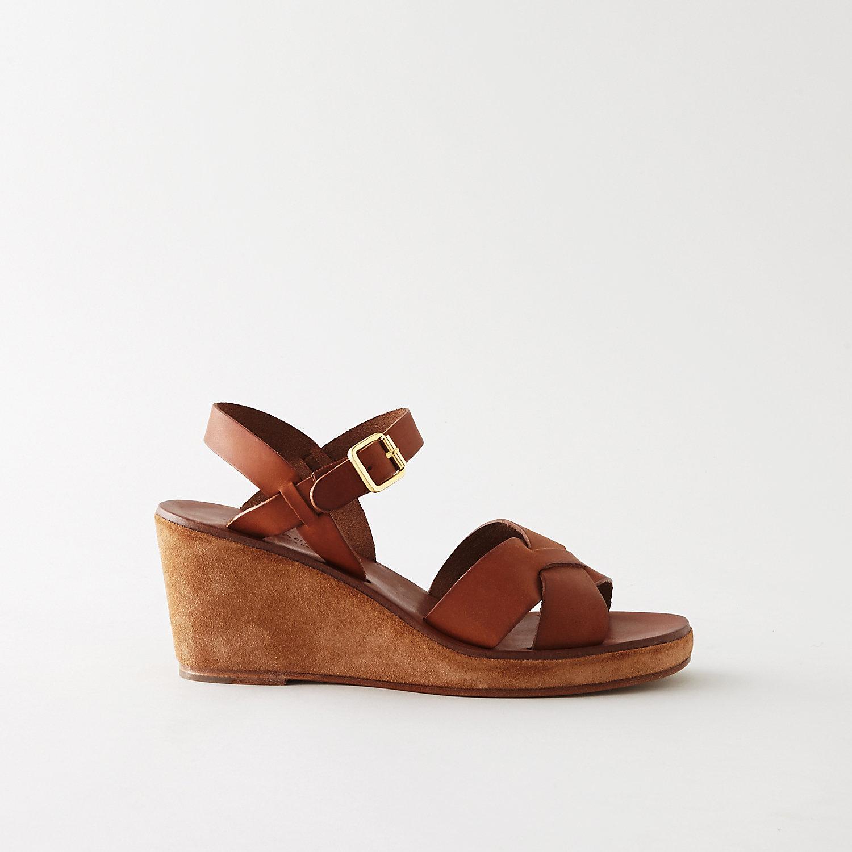 32 Wedge Sandals Platform Gladiator Horn And Wood