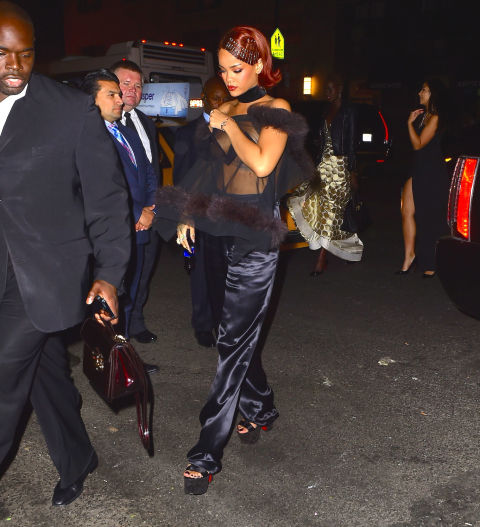 At Rihanna's Private Met Gala After Party at Up & Down.
