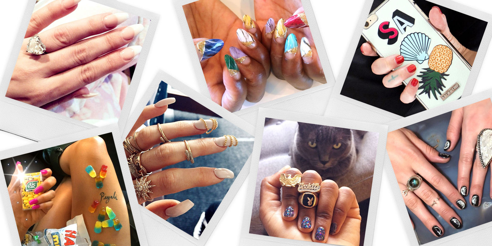 Celebrities with acrylic nails 2015