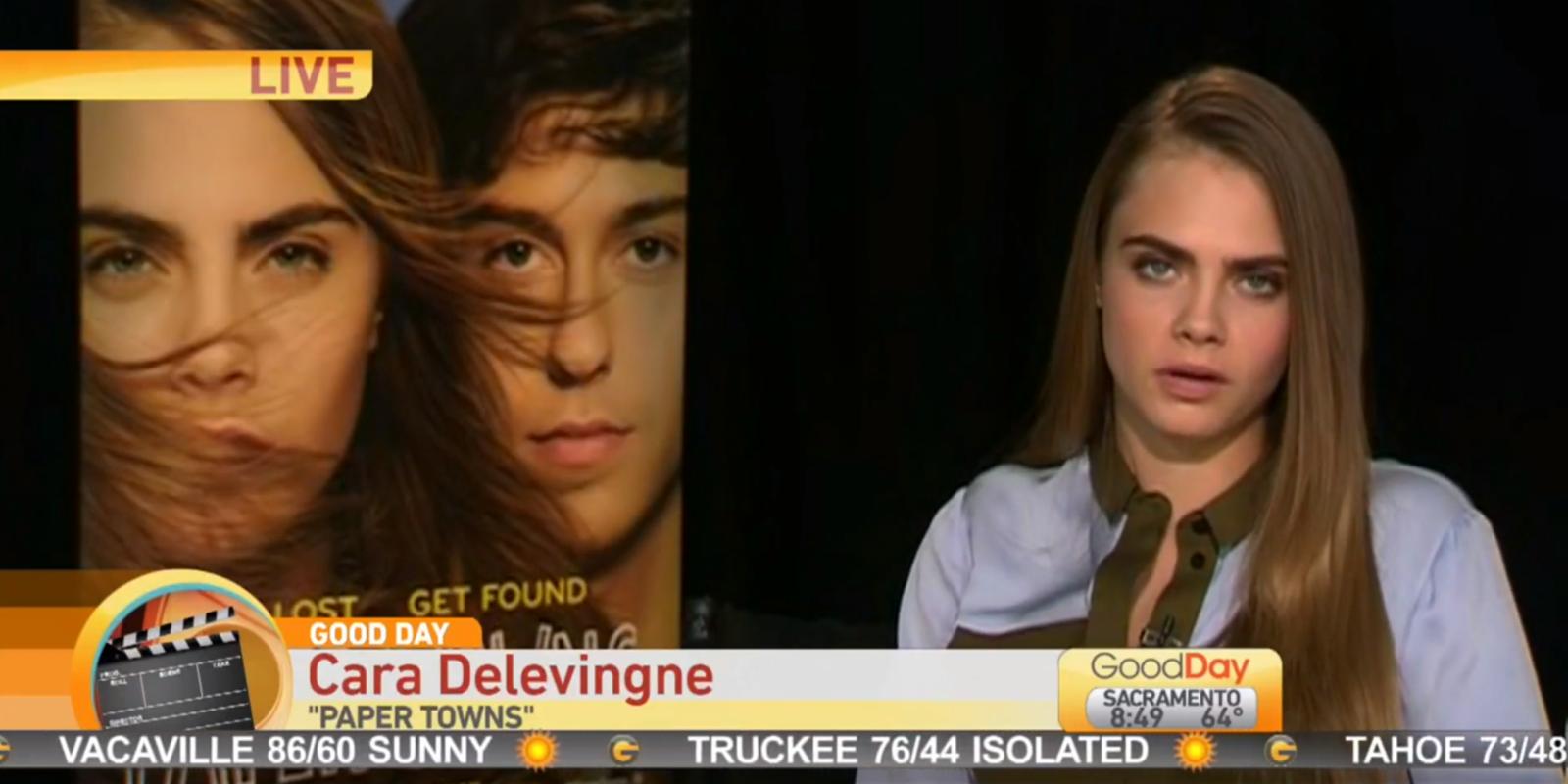 Cara Delevingne Interview Awkward Youtube