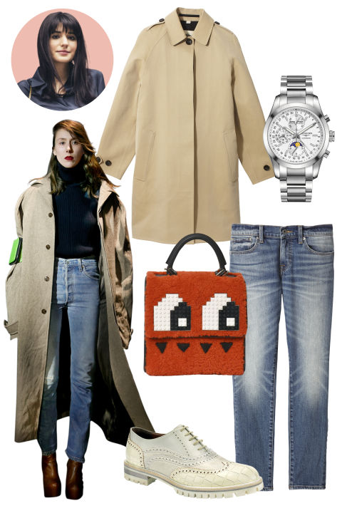 Inspiration: Vetements, Fall 2015 Shop the Look: Burberry Gabardine Trench Coat, $1,995; burberry.com; Lucky Brand Denim Jeans, $129; luckybrand.com Accessories: Longines Stainless-Steel Watch, $3,900; longines.com; Les Petits Joueurs Wool and Calfskin Handbag, $1,025; neimanmarcus.com; Fratelli Rossetti Leather Brogue, $620; fratellirossetti.com