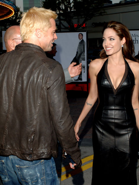 At the L.A. premiere of Mr. and Mrs. Smith.