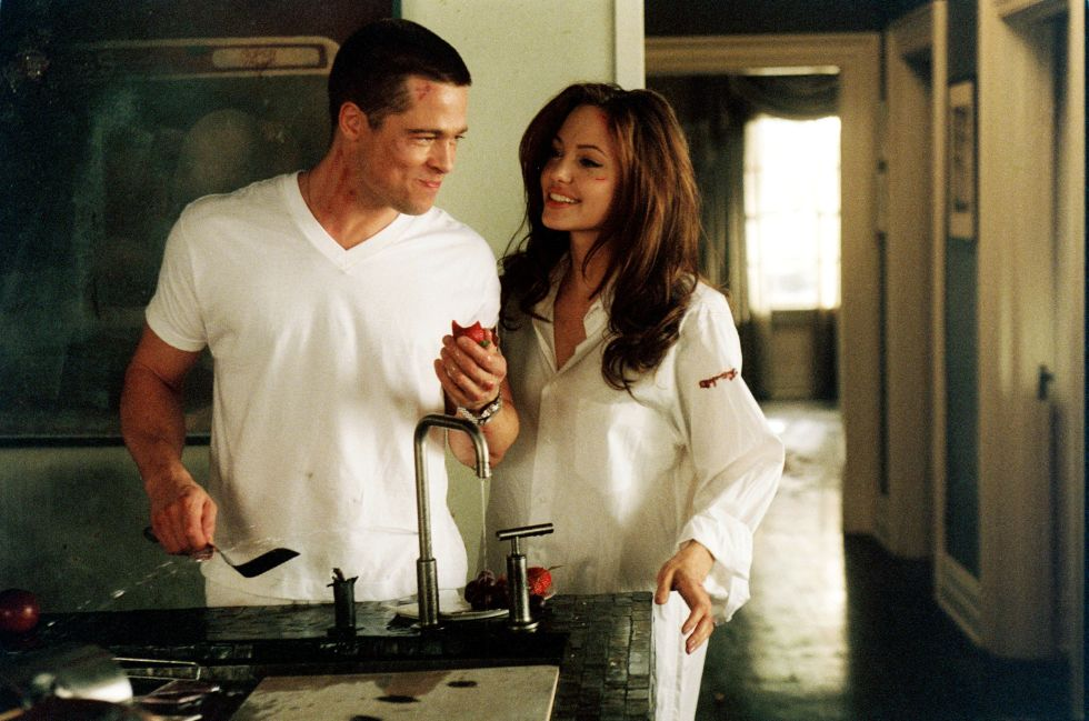 Filming Mr. and Mrs. Smith.