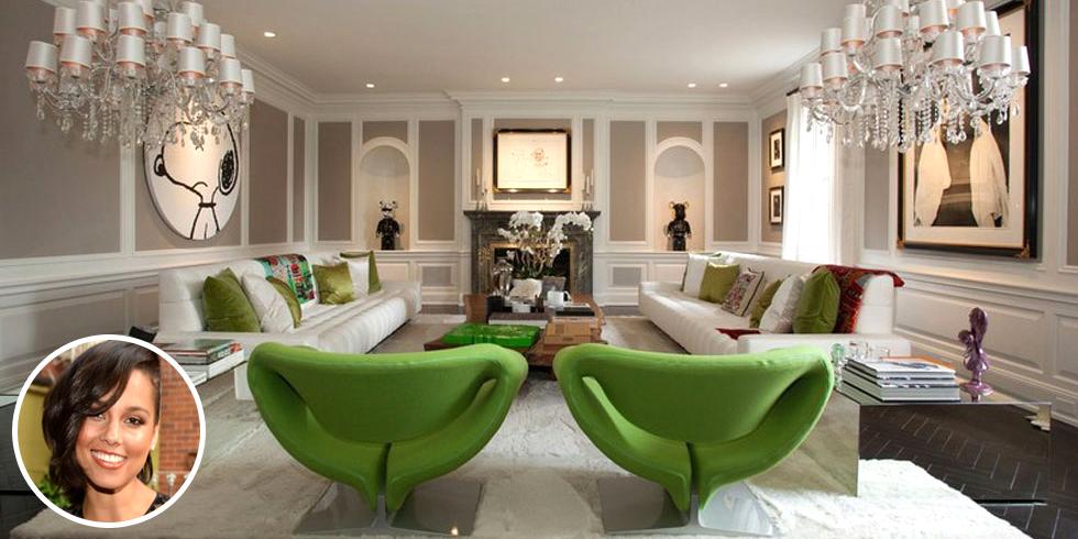 go inside alicia keys 39 32 room 14 9 million mansion. Black Bedroom Furniture Sets. Home Design Ideas