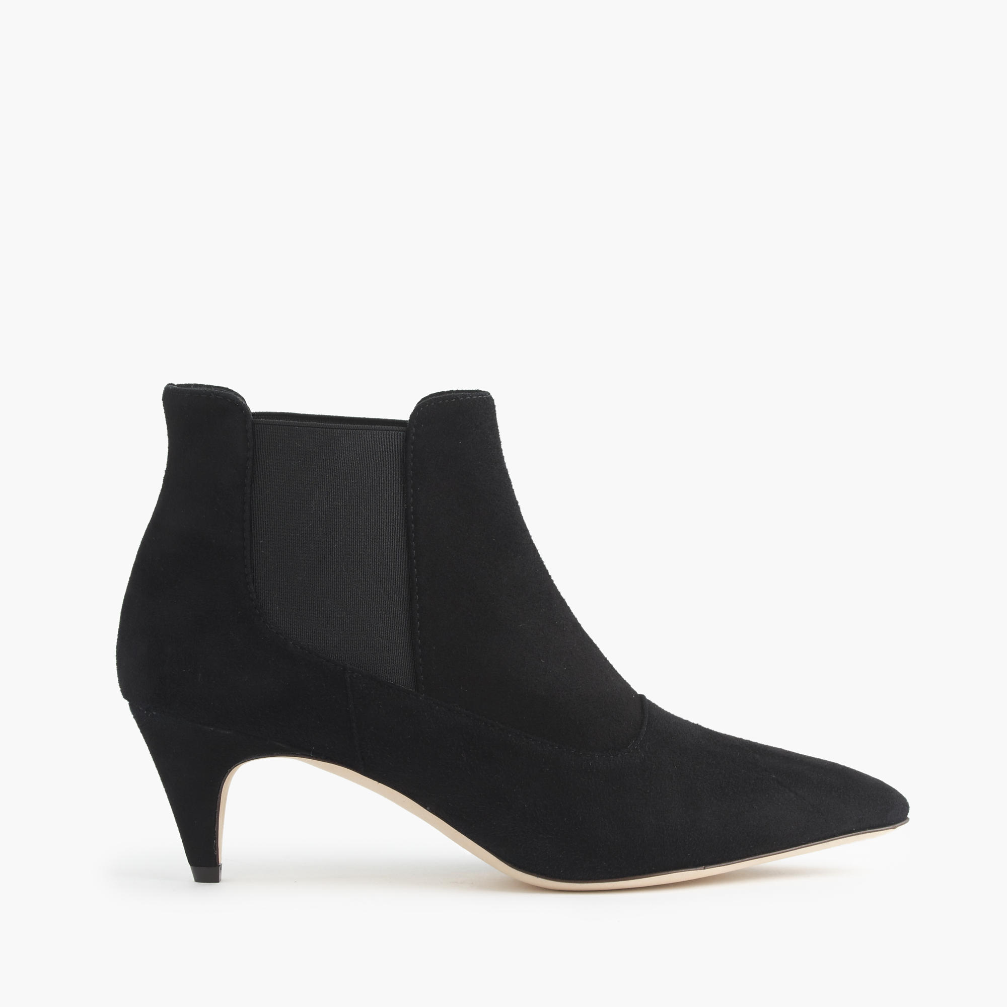Black Ankle Boots Kitten Heel