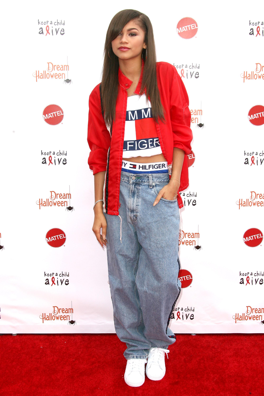 Zendaya in Pink Ulyana Sergeenko Dress in New York City - Zendaya Fashion and Style Photos