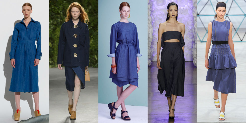 Warm-weather denim is nothing new, but that didn't stop many designers from showing it in their spring 2016 collections. Gabriela Hearst, Opening Ceremony, Jil Sander Navy, Cushnie et Ochs, Suno, and others sent jean dresses, shirts, skirts, and more down the runway.