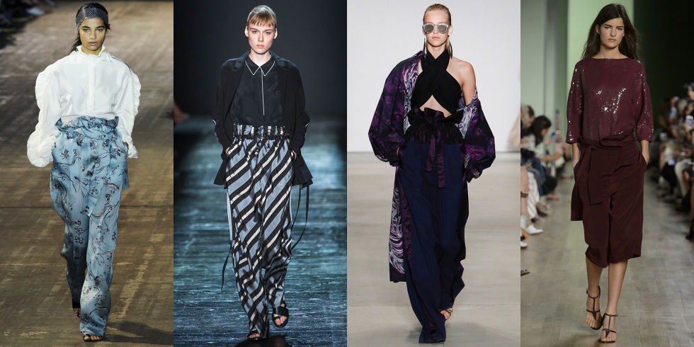Though it's not exactly the easiest trend to wear in real life, that didn't stop 3.1 Phillip Lim, Public School, Tome, or Tibi from sending skirts and pants with the roomy silhouette down their runways. Our suggestion? Pair yours with a piece that's tighter on top.