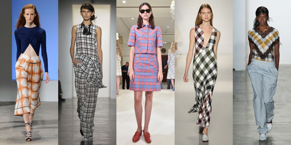 "Gingham will always have a place in our hearts (and on the runways) but this season, designers are saying, ""supersize me."" We spotted large plaids at Thakoon, Marissa Webb, Brooks Brothers, Victoria Beckham, and Wes Gordon, to name a few."