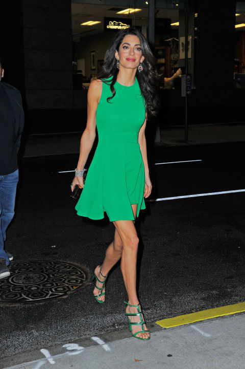 In Versace arriving at the New York Film Festival. </p><p>