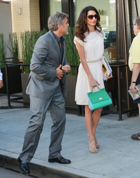 Out with George Clooney in Los Angeles.