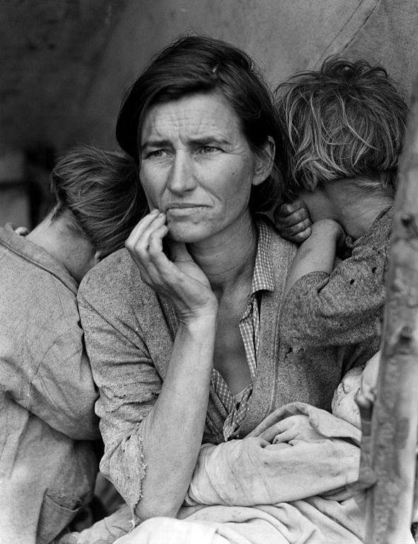 By Dorothea Lange