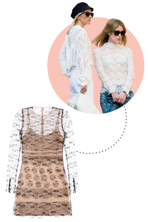 There's nothing sexier than a hint of lace on a dress or a shirt, which is why it's no surprise that gorgeous Italian women stockpile the style. RED Valentino Printed Lace Dress, $995; redvalentino.com
