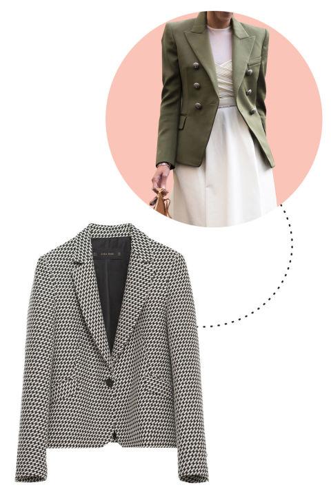 A tailored blazer is as synonymous with Italy as pasta. Zara Jacquard Blazer, $100; zara.com