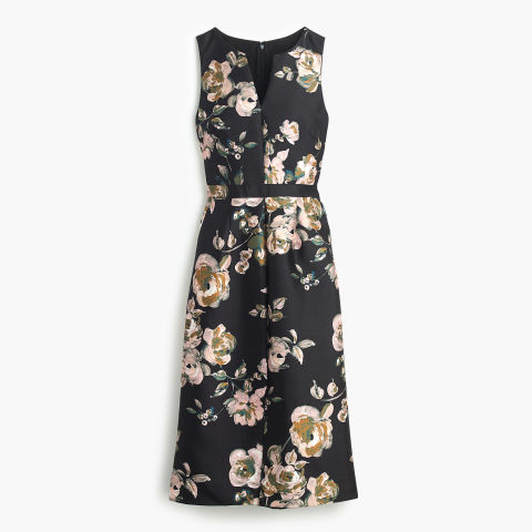 J. Crew Collection Painterly Floral Dress, $300; jcrew.com