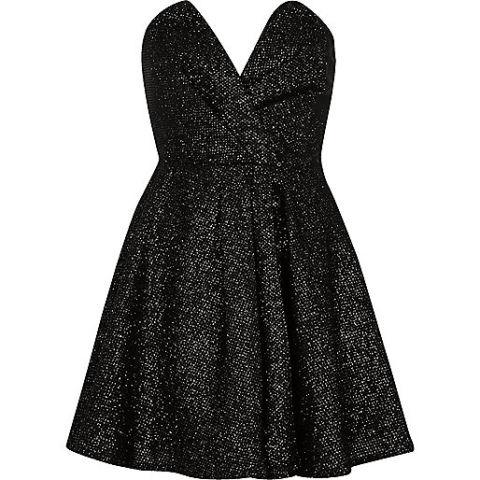 River Island Sparkley Bandeau Dress, $130; riverisland.com