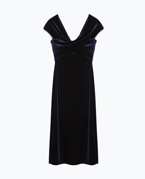Zara Velvet Dress, $70; zara.com