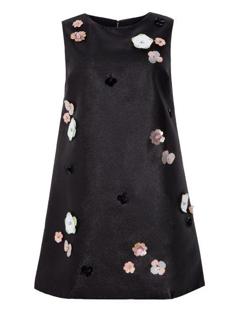 Pixie Market Flower Applique Shift Dress, $88; pixiemarket.com
