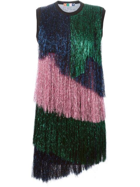 MSGM Colour Block Fringed Asymmetric Dress, $450; farfetch.com