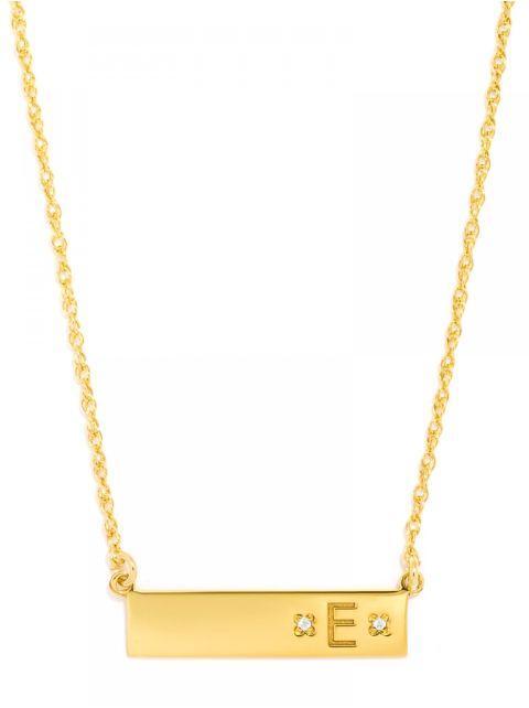 Baublebar Diamond Initial Necklace, $155; baublebar.com