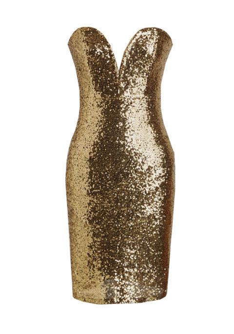 Modcloth Lights, Glamour, Fashion! Dress, $70; modcloth.com