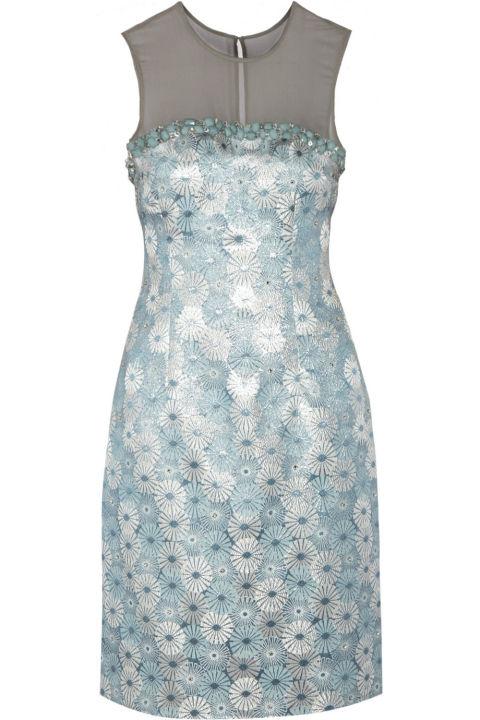 Mikael Aghal Embellished Jacquard Dress, $242; theoutnet.com