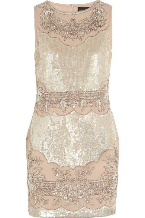 Needle & Thread Embellished Crepe de Chine Mini Dress, $400; net-a-porter.com