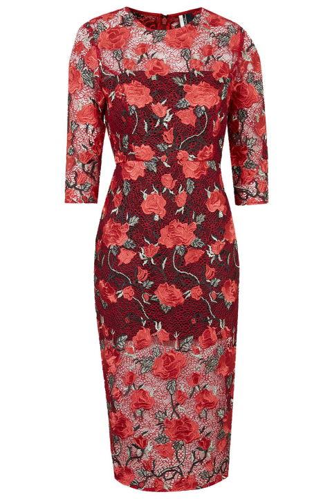 Topshop Lace Midi Dress, $230; topshop.com