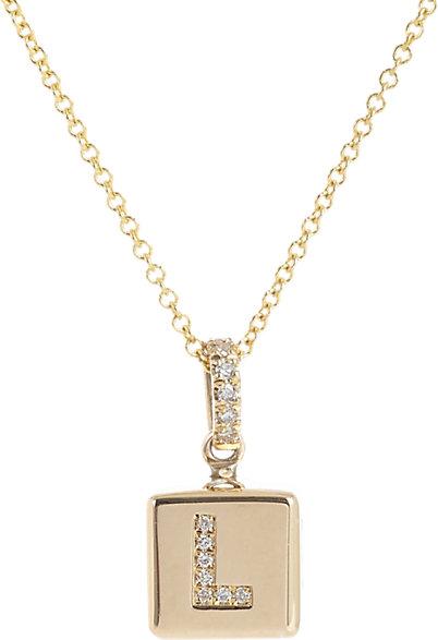Jennifer Meyer Diamond & Gold Love Cube Pendant Necklace, $3,500; barneys.com