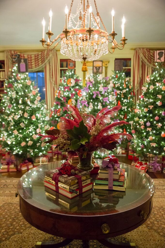 White house holiday decoration photos   carolina herrera, opening ...