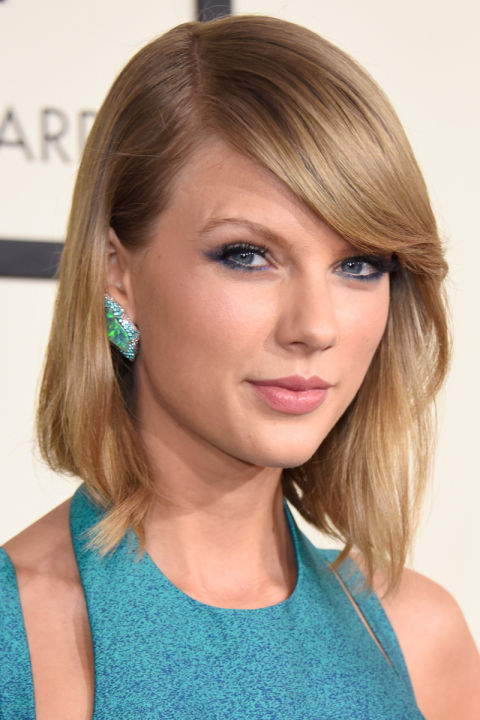 LOS ANGELES, CA - FEBRUARY 08:  Recording artist Taylor Swift attends The 57th Annual GRAMMY Awards at the STAPLES Center on February 8, 2015 in Los Angeles, California.  (Photo by Jeff Vespa/WireImage)