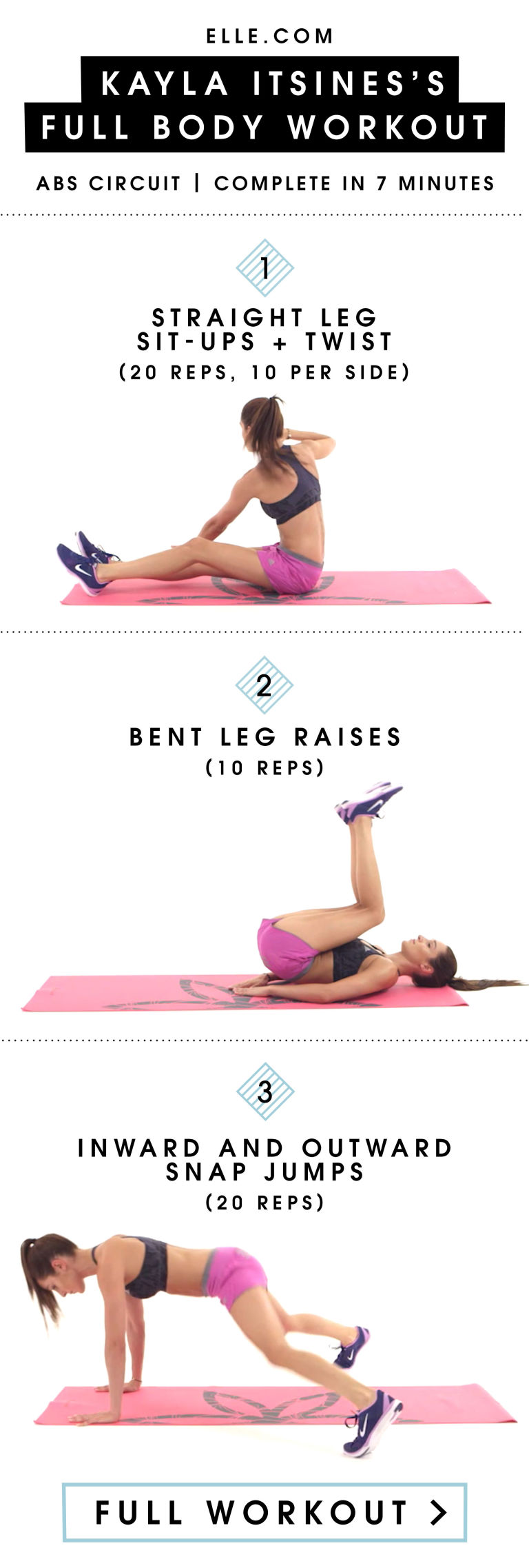 How To Get Instagramworthy Abs In 3 Moves  Kayla Itsines Bikini Body  Guide Abs Workout