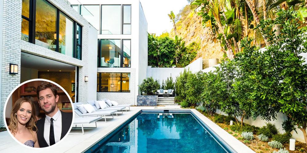 Emily blunt and john krasinski 39 s los angeles mansion - Casas de famosos por dentro ...