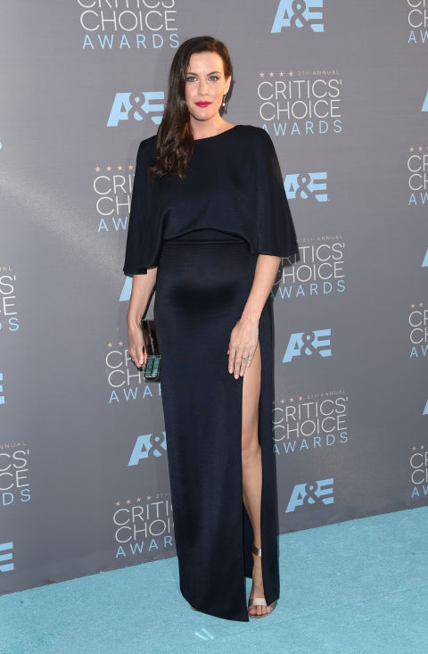In Cushnie et Ochs dress and Nicholas Kirkwood shoes with Jimmy Choo clutch.