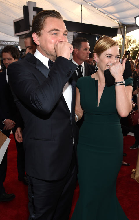 leonardo dicaprio and kate winslet red carpets photos