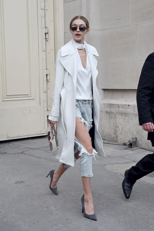 Gigi Hadid Paris Street Style - Gigi Hadid Fashion Photos