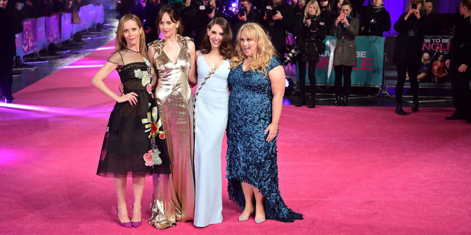 Dakota Johnson, Rebel Wilson, Alison Brie, And Leslie Mann Red Carpet  Photos How How To Be Single