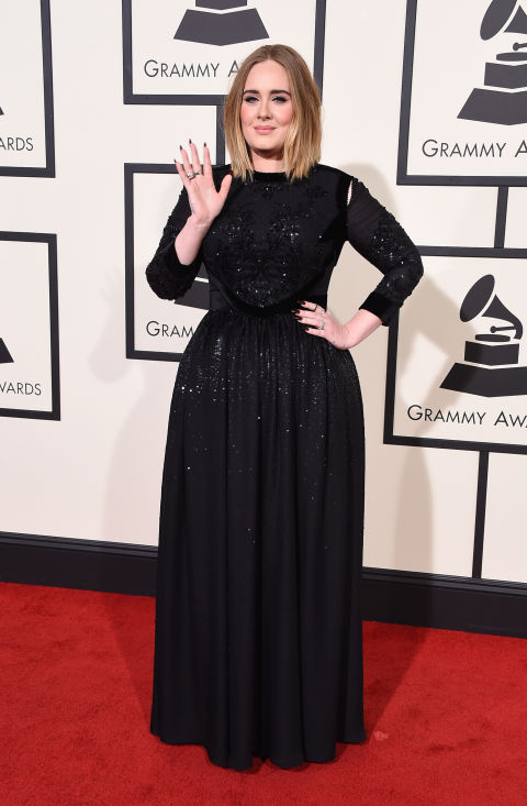 In Givenchy dress and Lorraine Schwartz jewelry